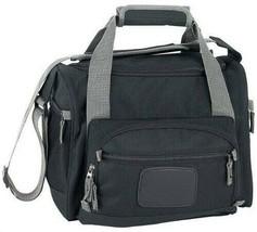 Black Polyester Lunch Box Cooler Bag Zip Out Liner Shoulder Strap Travel... - $21.63