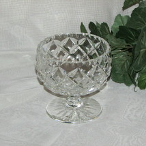 SPARKLING CRYSTAL FOOTED CANDY BOWL DIAMOND NUT DISH - $16.95