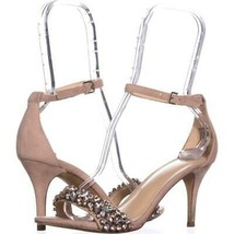Nine West Innocent Jeweled Ankle Strap Sandals 631, Natural, 6.5 US - $31.38