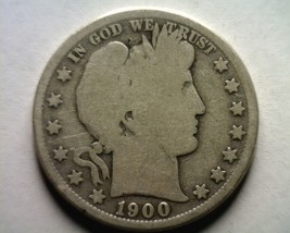 1900-S Barber Half Dollar Good G Nice Original Coin From Bobs Coins Fast Ship - $26.00