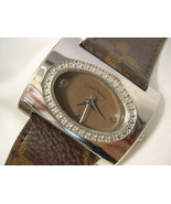 """L32, Louis Vuitton, Ladies Watch, Oval Face, Classic Vuitton Print on 8"""" Band - $1,299.79"""