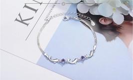 TJP Trendy Women 925 Silver Bracelets Accessories Top Quality Crystal Dolphin La - $10.25