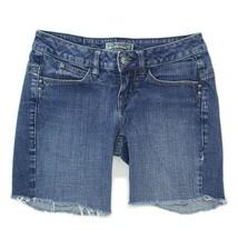 VOLCOM Womens Medium Wash Raw Hem Distressed Cut Off Jean Shorts sz 1  - $19.79