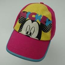 Mickey Mouse Walt Disney Pink Ball Cap Hat Adjustable Baseball Girls - $13.85