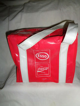 Coca Cola Esso Plastic Cooler Bag with Strap Handle Lunch Insulated Tote - $18.99