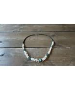 """Vintage Southwestern Rattlesnake Vertebrae Turquoise Necklace 21"""" - $74.25"""