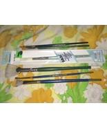 Used LOT 6 Craft Artist Paint Brushes Folkart Plaid Westwater Enterprise... - $21.33