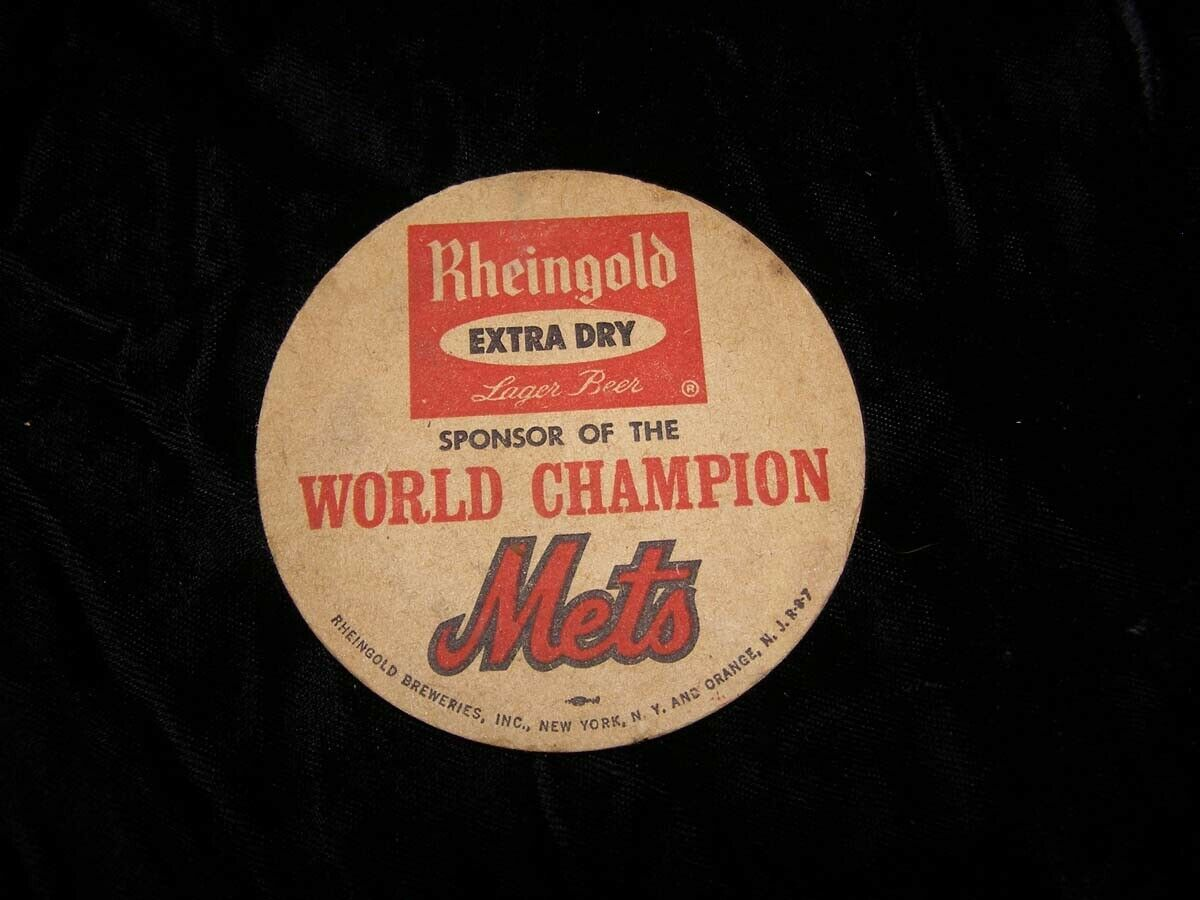 Primary image for Rheingold Beer NY Mets Baseball World Champion Coaster Vintage