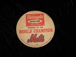 Rheingold Beer NY Mets Baseball World Champion Coaster Vintage - $14.99