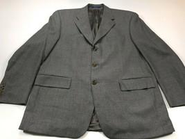 Chaps Ralph Lauren 44R Men's Gray Lambswool Blazer Jacket 44 Regular - $49.99