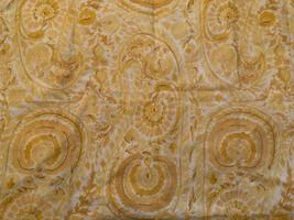 Pottery Barn Painterly Paisley Medallion Yellow One Euro Pillow Sham Euc - $19.79