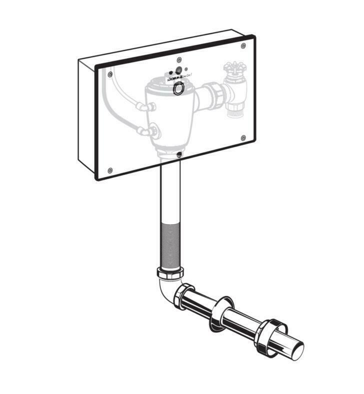 American Standard 6065361.007 Concealed Selectronic Back Spud Toilet 1.6 gpf Flu - $269.50