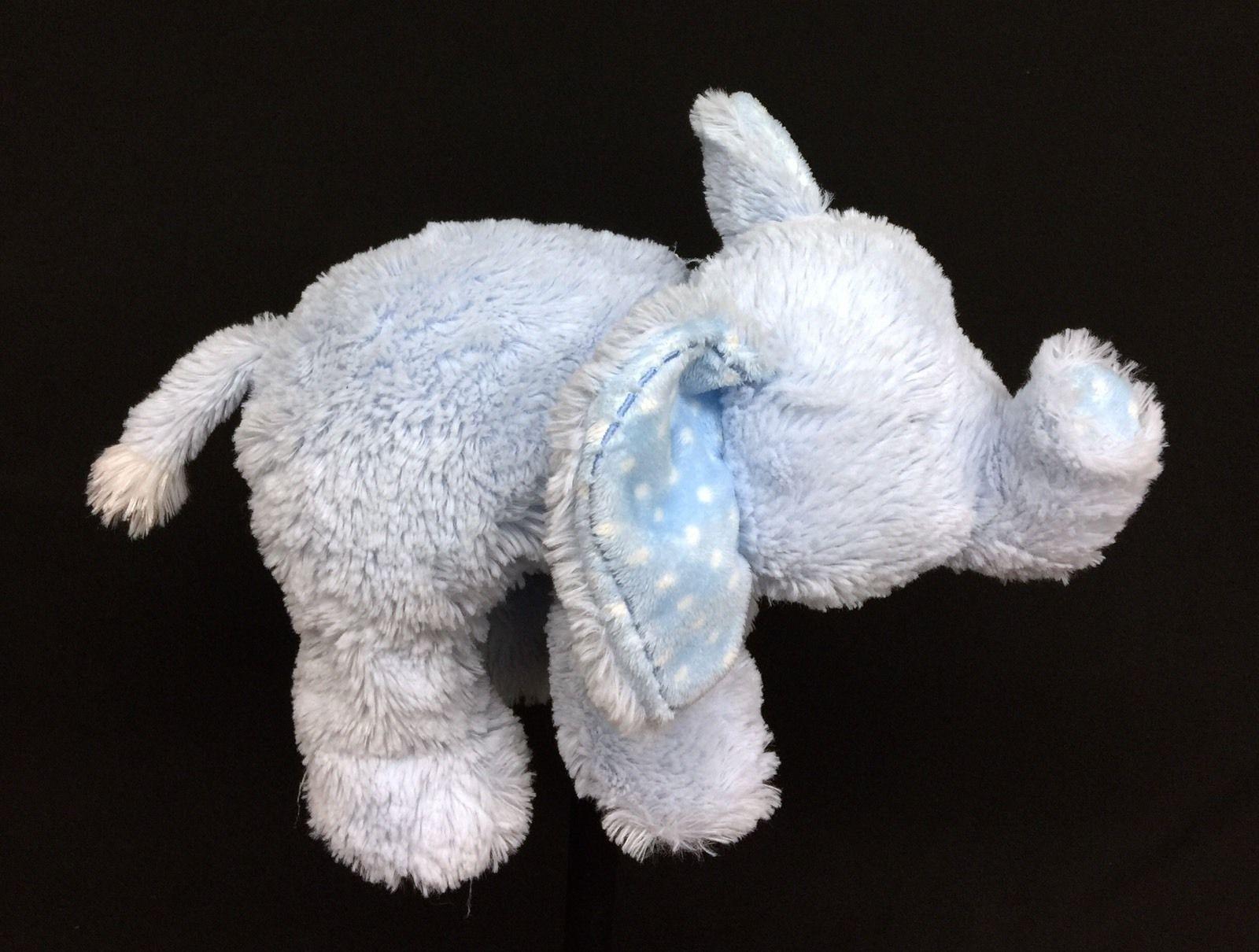 Aurora Baby Elephant Rattle ~ Blue