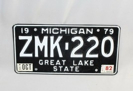 "Vintage Michigan License Plate 1979 ""Great Lake State"" FPD-014 White on ... - $16.82"