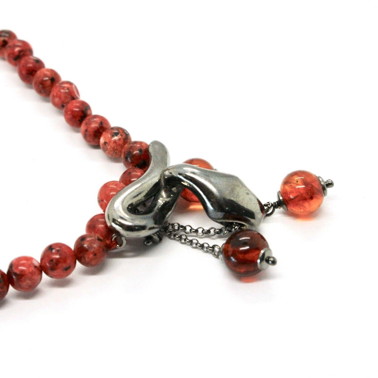 Collar de Plata 925 con Serpiente Pulido y Jasper, Made IN Italy por Varonil