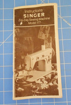 Instruction Manual for Singer 177 Zig Zag Sewing Machine.  64 Pages.. - $14.85