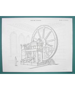 STEAM ENGINE Design by Mr Fairbairn of Manchester - 1840 Fine Quality Print - $18.36