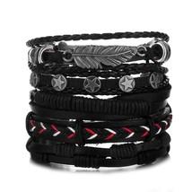 IFMIA Vintage Multiple Charm Bracelets Set For Men Woman Fashion Wristbands Owl  - $12.66