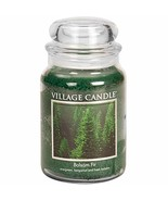 Village Candle Balsam Fir 26 oz Glass Jar Scented Candle, Large - $18.33
