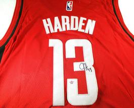 JAMES HARDEN / AUTOGRAPHED HOUSTON ROCKETS RED PRO STYLE BASKETBALL JERSEY / COA image 3