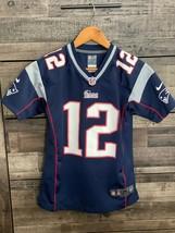 Tom Brady #12 New England Patriots NFL Football Jersey 10-12 Medium Yout... - $26.59