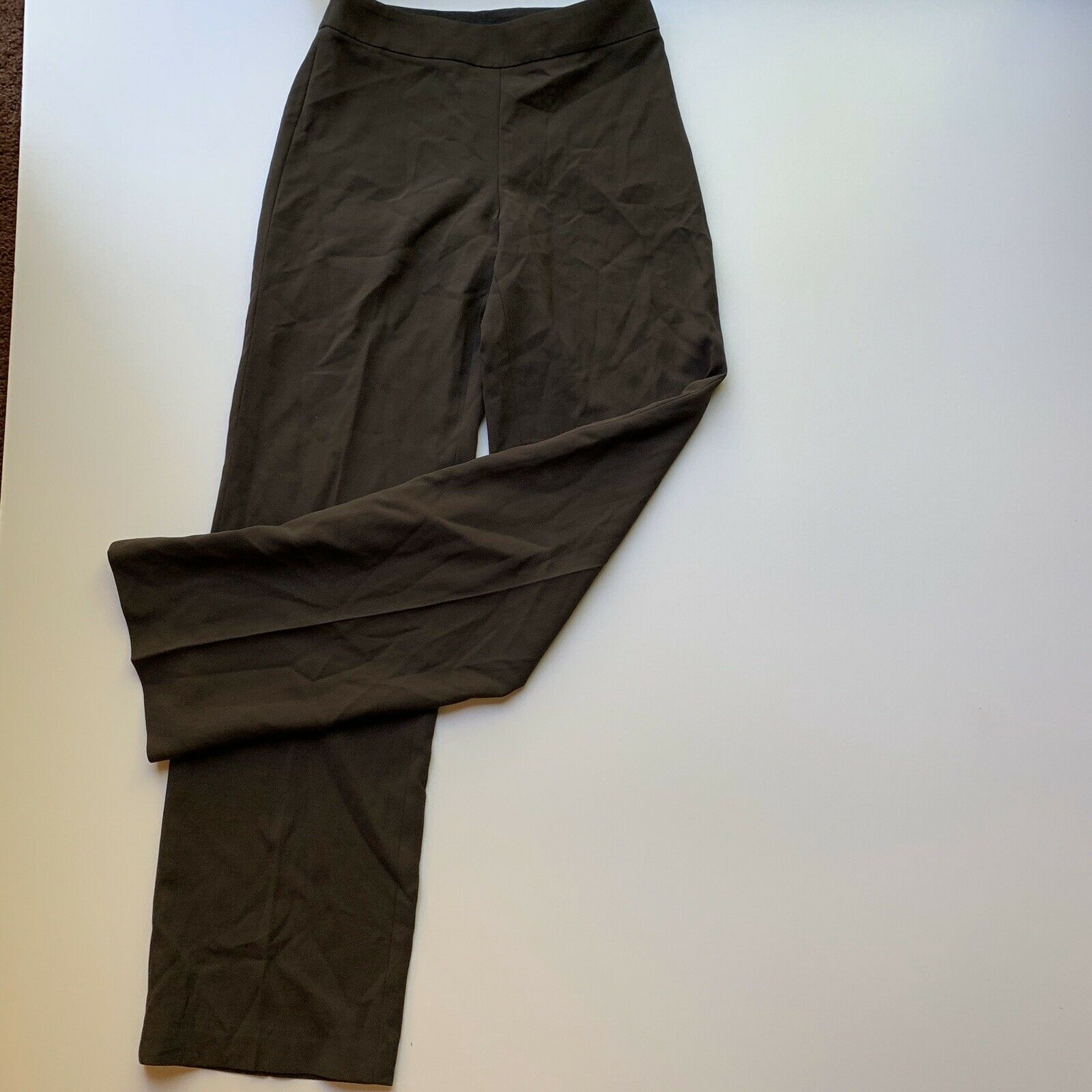 Giorgio Armani Women's Size 40 / Small Brown 100% Wool Dress Pant Trousers Italy image 7