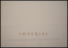 1959 Chrysler Imperial Prestige Brochure, Custom Crown LeBaron, Original... - $53.86