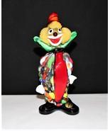 "Murano Hand Blown 7.5"" Multi-Color Glass Art Clown Figurine - £68.02 GBP"