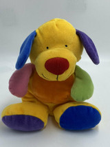 Ty Pluffies Pretty Puppy Dog Primary Colors Yellow Blue Orange Green Plu... - $39.99