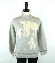Ralph Lauren Size Petite S, PS Hand Knit Polar Bear Wool Sweater Exc Cond - $30.00