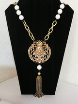 Cini Inspired Satyr Medallion Statement Pendant Necklace - $38.00