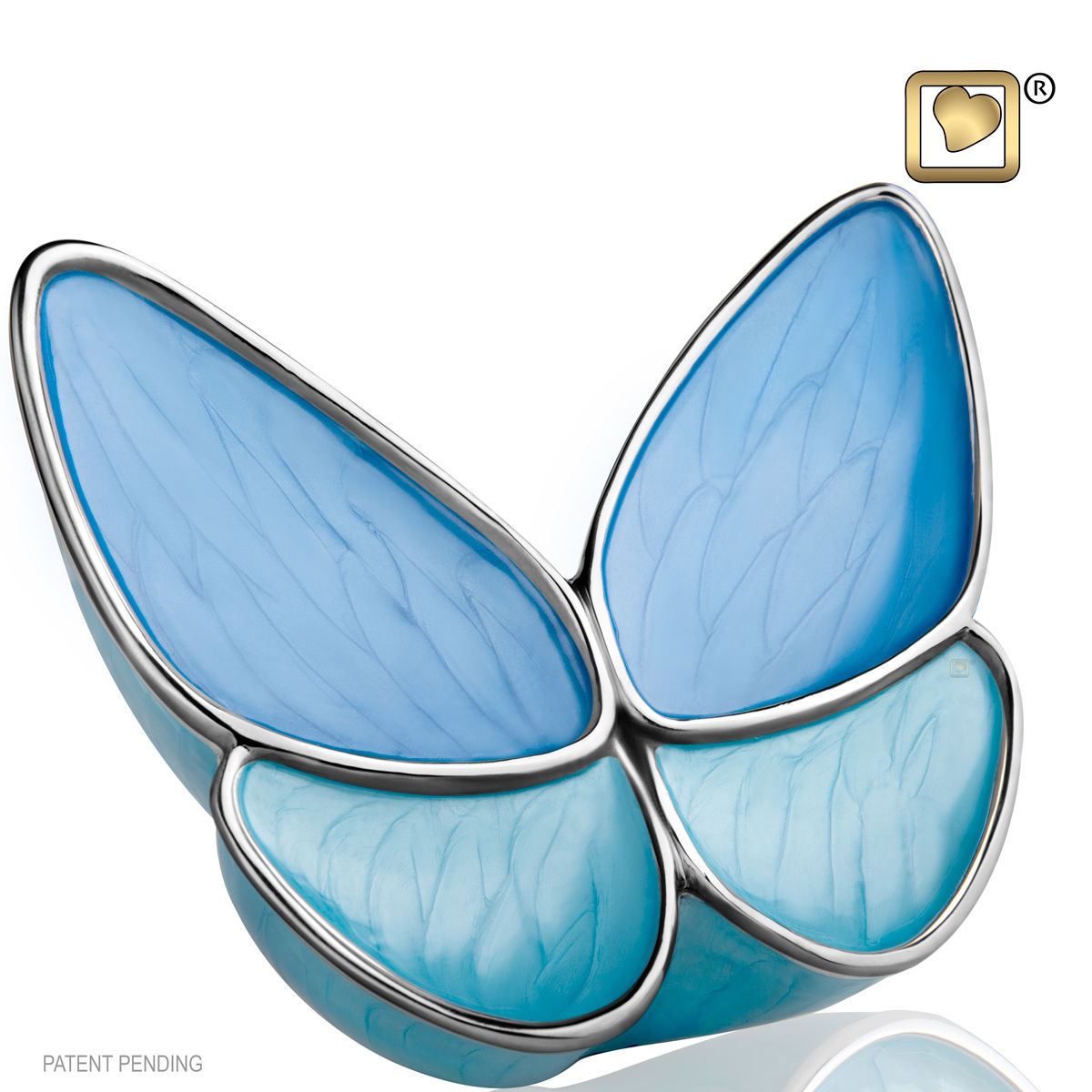 Blue Butterfly Wings of Hope Keepsake Funeral Cremation Urn Ashes,3 Cubic Inches image 2
