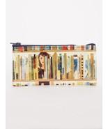 "Books Blue-Q Zipper Pencil Case New 4.25""H x 8.5""W Reading Fashion - $7.99"