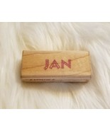 Rubber Stampede Your Name In Stamps JAN Personalized Wood Mounted Rubber... - $2.92