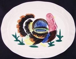 "Vintage Large 18"" Handpainted Turkey Serving Platter, Made in Japan - £19.57 GBP"