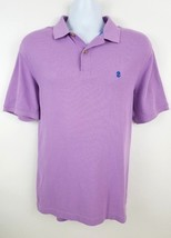 IZOD Advantage Polo Short Sleeve Collared Shirt Purple Size M - $4.96