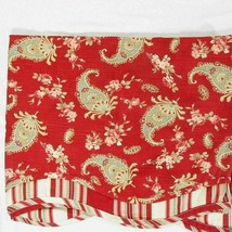 Waverly Prelude Paisley Crimson Red Floral Stripe Scalloped Fairfield Va... - $32.00