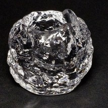 1 VTG SMALL KOSTA BODA Crystal Snowball Holiday Votive Candle Holder Ann... - $10.82
