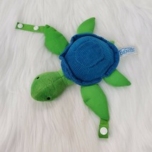 Dr Browns Green Turtle Baby  Lovey Pacifier & Teether Holder Blue Plush ... - $12.97