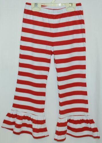 Blanks Boutique Red White Ruffled Pants Cotton Spandex Size 5T
