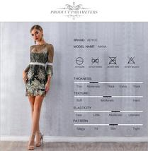 Women's Brand Fashion Lace Sequin  Black Half Sleeve Party Dress image 8