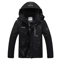 Men's 2018 Inner Winter Fleece Waterproof Jacket Outdoor Sport Warm Brand Coat H - $64.26