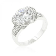 Tension Set Cubic Zirconia Engagement Ring (size: 07) R08330R-C01-07 - $26.61