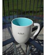 Rae Dunn Magenta Brand Jet Set Coffee Tea Mug Cup Blue Interior Inside - $11.00