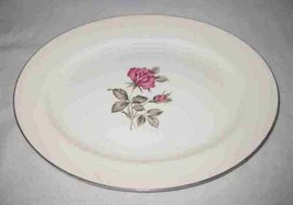 "Neat Vintage 11 3/4"" X 9 1/2"" China Platter With Roses - $23.24"