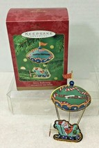 2000 Merry Ballooning Hallmark Christmas Tree Ornament MIB Price Tag Q3 - $18.32