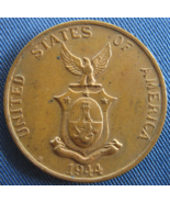 """1944 """"S"""" One Centavo Coin From: Commonwealth Of The Philippnes - (sku#4876) - $8.99"""