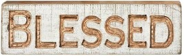 """BLESSED Carved Wooden Sign - 19"""" Long - Rustic Shabby - Christian Home D... - $24.70"""