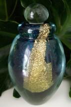 Large Eickholt Art Glass Perfume Bottle~Signed~2007~Gold Leaf~Mint~Aweso... - $199.99