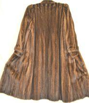France Olivia mink fur coat FR 44 full length mahogany chic sophisticate brown image 4